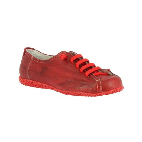 Leonardo Shoes 1269PINTA ROSSO BORDO Červená