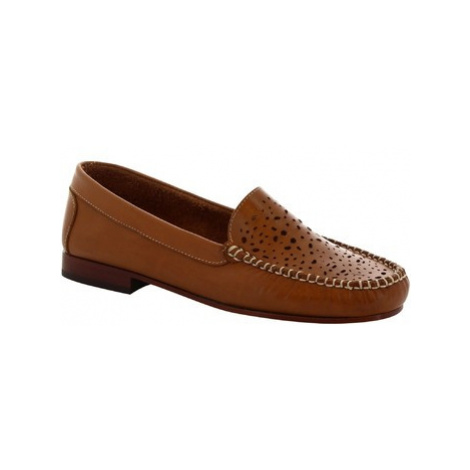 Leonardo Shoes 5026 VITELLO CUOIO Hnědá