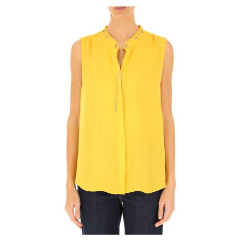 Žlutý hedvábný top - MICHAEL KORS