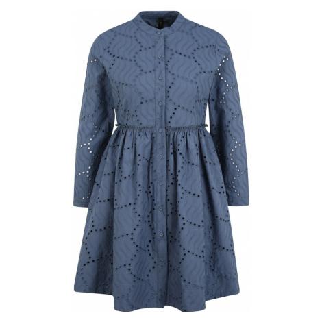 Y.A.S Petite Košilové šaty 'BIM' chladná modrá
