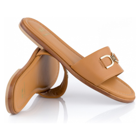 Pantofle La Martina Woman Shoes Rodi - Hnědá