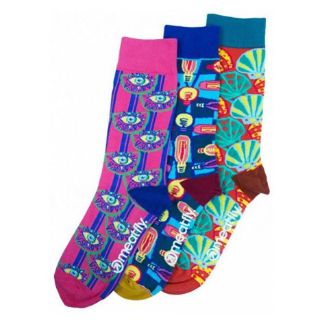 Meatfly PACK - ponožky Globe socks - S19 Multipack