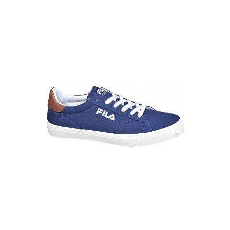 Modré plátěné tenisky Fila