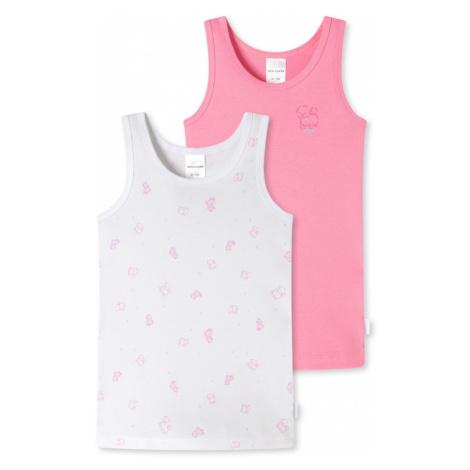 SCHIESSER Tílko bílá / růžová
