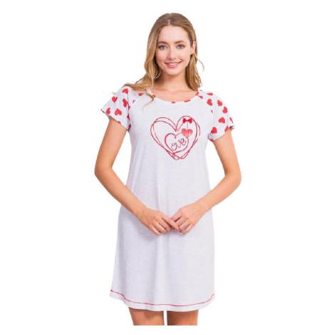 Dámská noční košile Vienetta Secret Love | světle šedá
