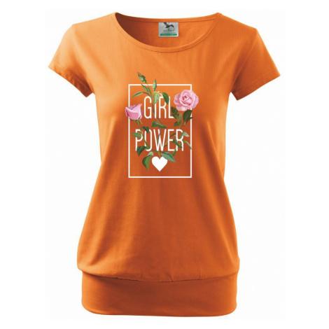 Girl Power - růže - Volné triko city