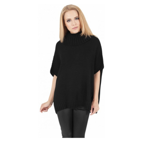 Urban Classics Ladies Knitted Poncho black