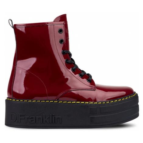 DFranklin Bordó šněrovací boty na platformě D.Franklin