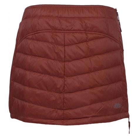 Prošívaná zimní péřová sukně SKHOOP Down Mini, brickred
