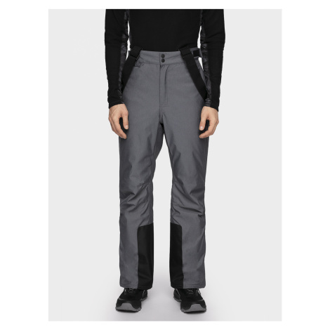 4F Pánské lyžařské kalhoty SPMN001 - středně šedý melír