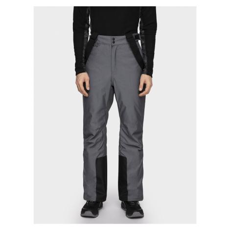 Pánské lyžařské kalhoty SPMN001 - středně šedý melír 4F