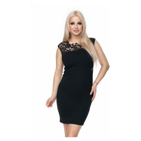 Černé krajkové šaty 0108 PeeKaBoo
