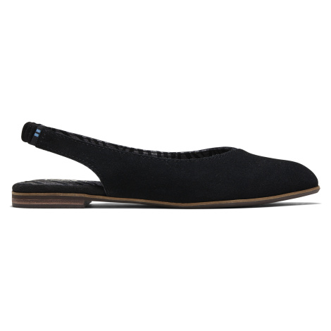 BLACK SUEDE WM JULISB FLAT Toms
