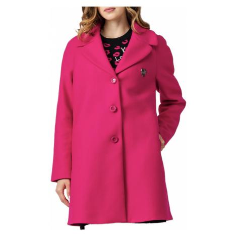 Fuchsiový kabát - LOVE MOSCHINO