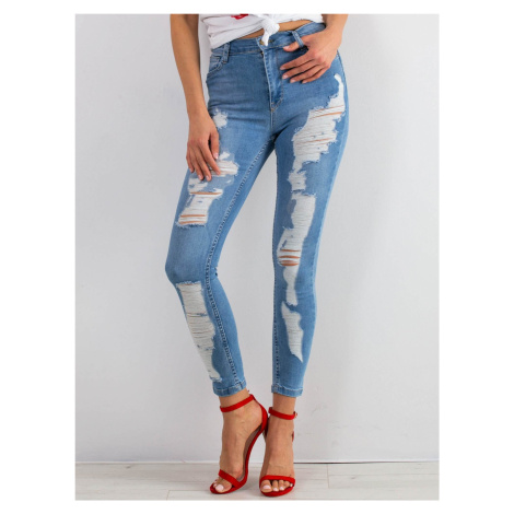 Roztrhané modré džíny FPrice