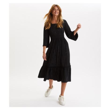 Šaty Odd Molly Puzzle Me Together Long Dress - Černá