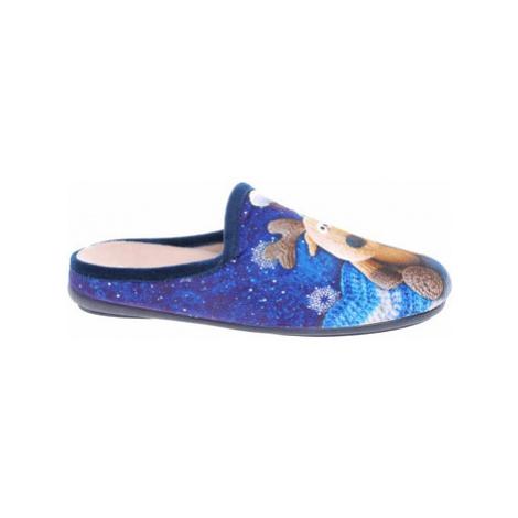 Rejnok Dovoz Dámské domácí pantofle Patrizia 1034-9 blue Modrá