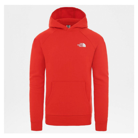 MIKINA THE NORTH FACE RAGLAN RED BOX HD - červená
