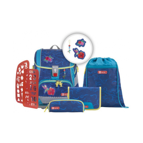 Školní aktovka/batoh 2V1 pro prvňáčky – 6-dílný set, Step by Step Kolibřík, certifikát AGR