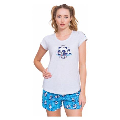 Dámské pyžamo šortky Vienetta Secret Malá panda   světle šedá