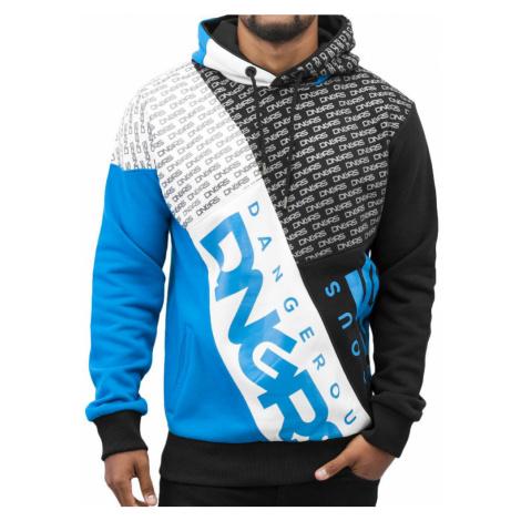 DANGEROUS DNGRS mikina pánská Logo Hoody Blue nadměrná velikost