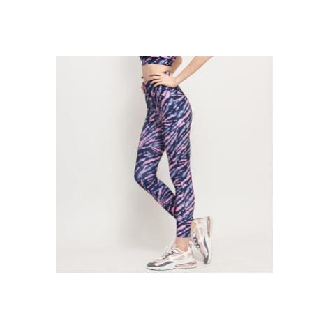 Urban Classics Ladies High Waist Tie Dye Leggings navy / růžové