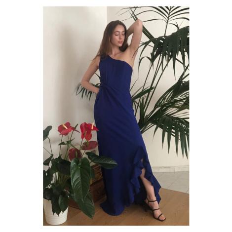 Trendyol Saks Buzgü Detailed Evening Dress & Graduation Dress