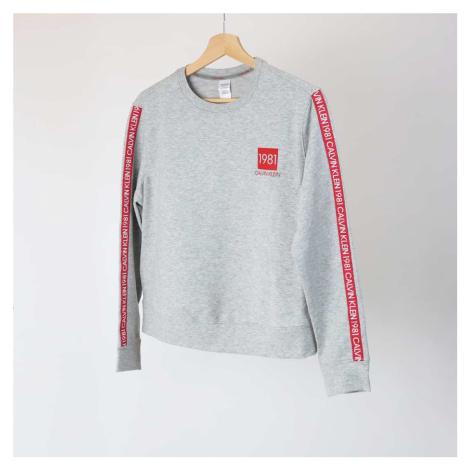 Šedá mikina 1981 Bold Cotton Sweatshirt Calvin Klein