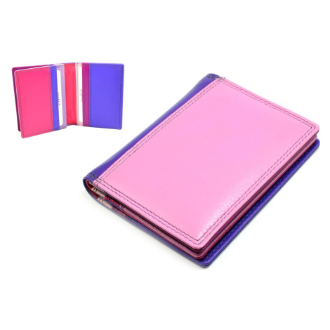 Kožené pouzdro na karty a vizitky světle růžové Golunski