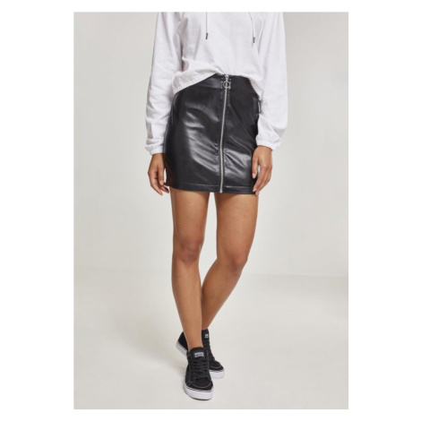 Ladies Faux Leather Zip Skirt Urban Classics