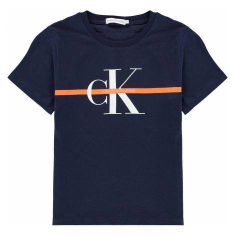 Calvin Klein Junior Boys Monogram Stripe Short Sleeve T Shirt
