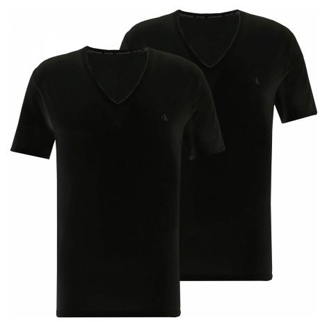 2PACK pánské tričko CK ONE V neck černé (NB2408A-001) Calvin Klein