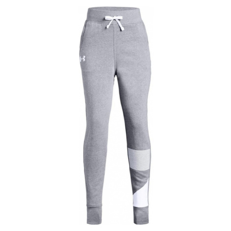 Under Armour Rival Jogger Dívčí tepláky 1317842-035 Steel Light Heather