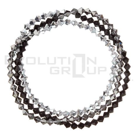 Náramek se Swarovski krystaly stříbrný 33081.5 silver Victum