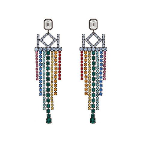 Karl Lagerfeld Luxusní náušnice s krystaly Chain Chendelier