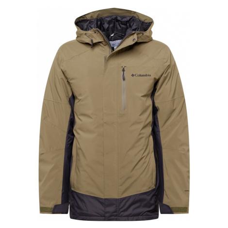 COLUMBIA Outdoorová bunda 'Lhotse III' khaki / černá