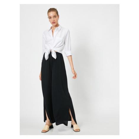 Koton Slit Detailed Wide Cut Trousers