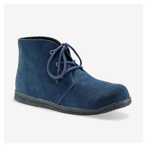Blancheporte Kotníkové boty na zavázání nám.modrá