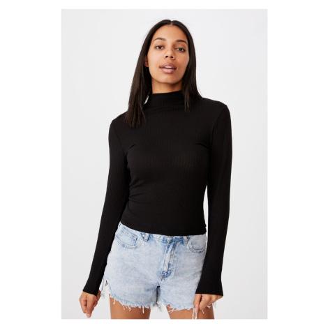 Dámské basic triko s rolákem Mila černá Cotton On