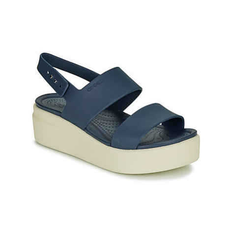 Crocs CROCS BROOKLYN LOW WEDGE W Modrá