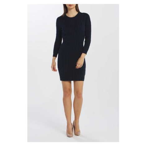 ŠATY GANT D1. STRETCH COTTON CABLE DRESS