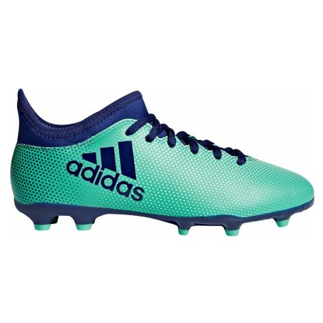 Dětské kopačky Adidas X 17.3 FG Tyrkysová / Modrá