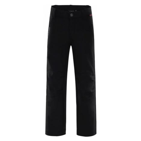 ALPINE PRO PLATAN 2 Dětské softshellové kalhoty KPAM049990 černá