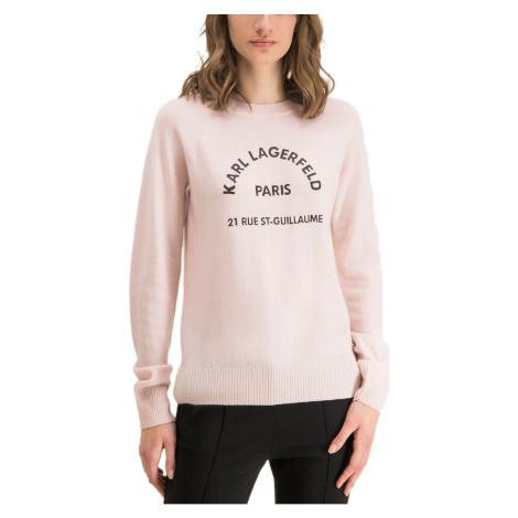 Růžový svetr - KARL LAGERFELD | Rue st Gulliaume