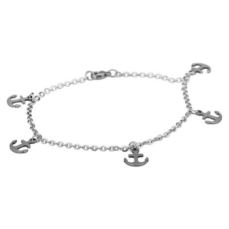 Linda's Jewelry Náramek Simple Kotva kotníkový chirurgická ocel INR049
