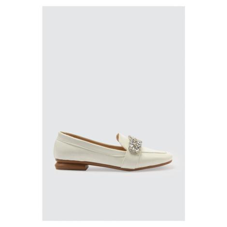 Trendyol White Rugan Stone Women's Classic Shoes