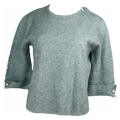 Dámský svetr na rukávech zdobený perličkami - Gemini
