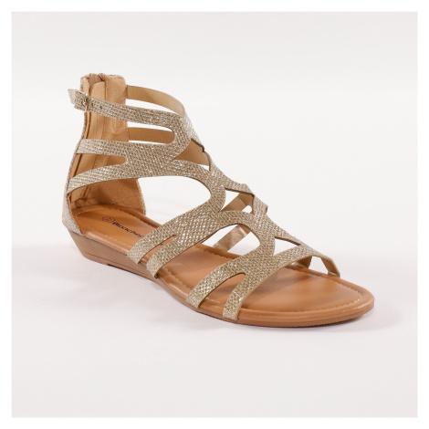 """Blancheporte Kotníčkové sandály """"římanky"""", zlaté zlatá"""