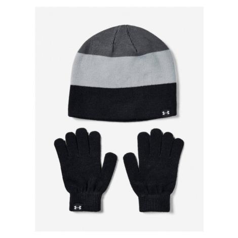 Čepice a rukavice Under Armour Boys Beanie Glove Combo-Blk Barevná