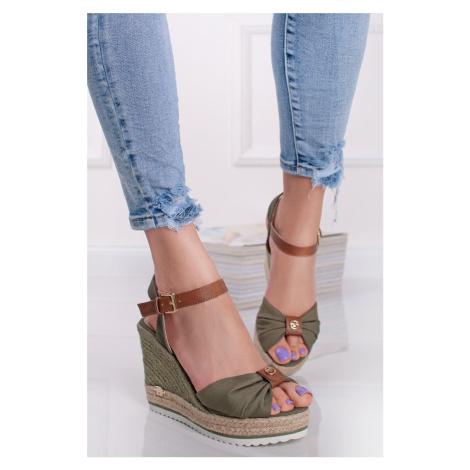 Zelené platformové sandály 1190202 Tom Tailor